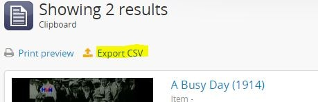 export to .csv