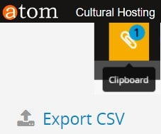 Using Clipboard and export to .csv | ATOM 2.3 (Access to Memory)